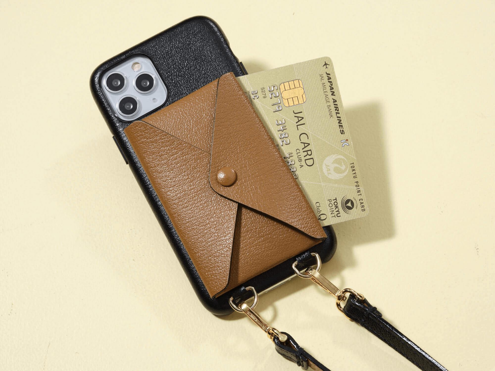【辻元舞さん別注】 ショルダーストラップ付 バックカバーiPhoneケース